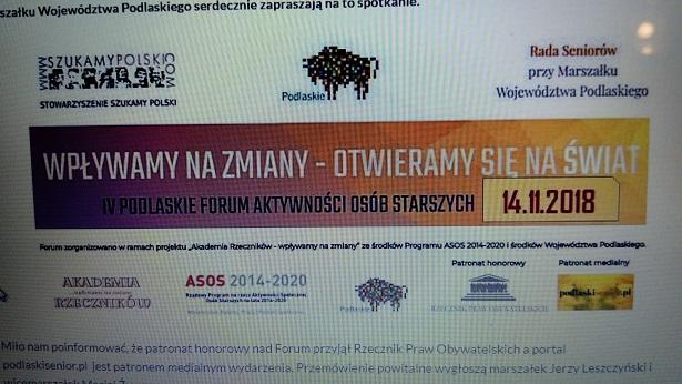 I Forum Seniora w Białymstoku – czy też może IV Forum Aktywności Osób Starszych?
