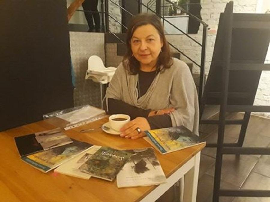 Teresa Radziewicz w Klubie Czytelniczym Ex Libris