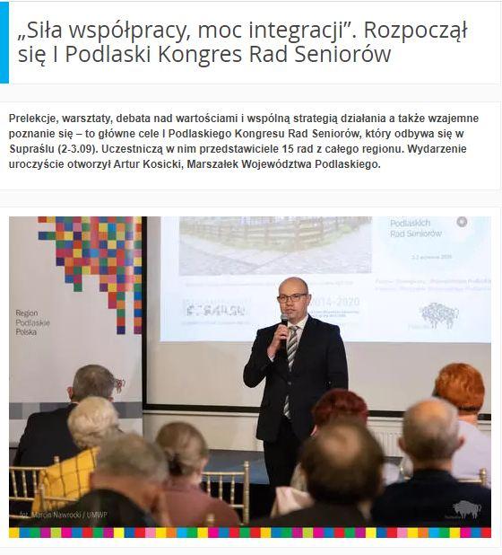Marszałek województwa podlaskiego