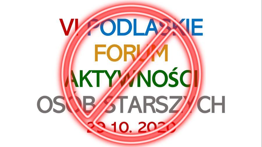 Forum Seniora 29.10.2020 odwołane