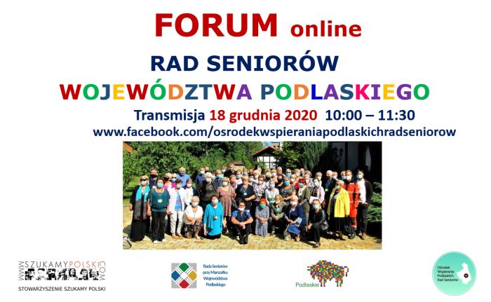 Forum Podlaskich Rad Seniora 18.12.2020