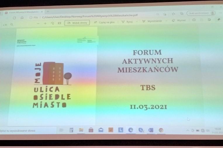 Forum mieszkańców białostockiego osiedla TBS