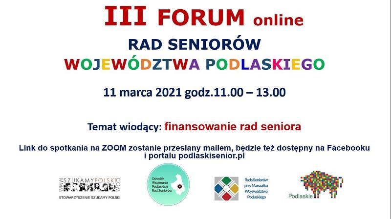 III Forum Podlaskich Rad Seniorów przed nami