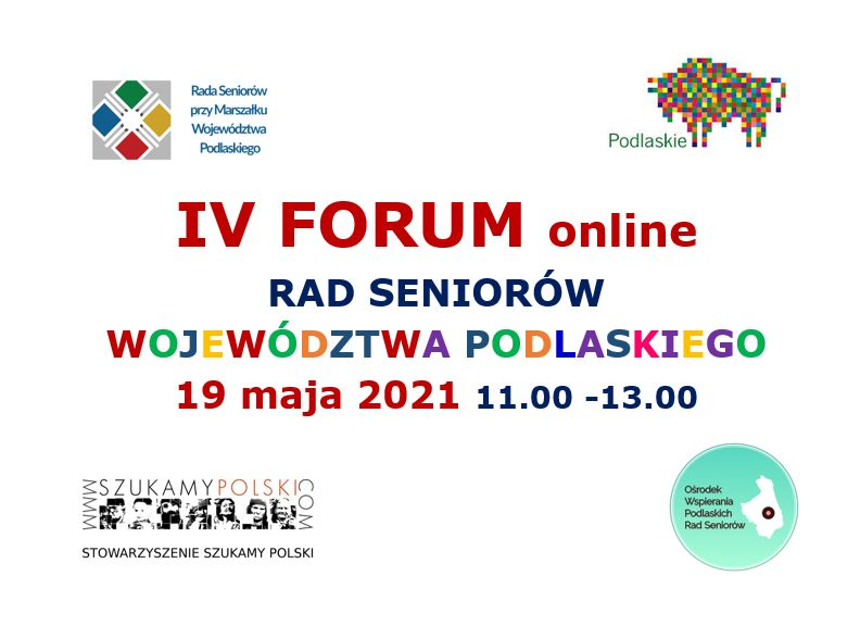 IV Forum rad seniorów 19 maja 2021