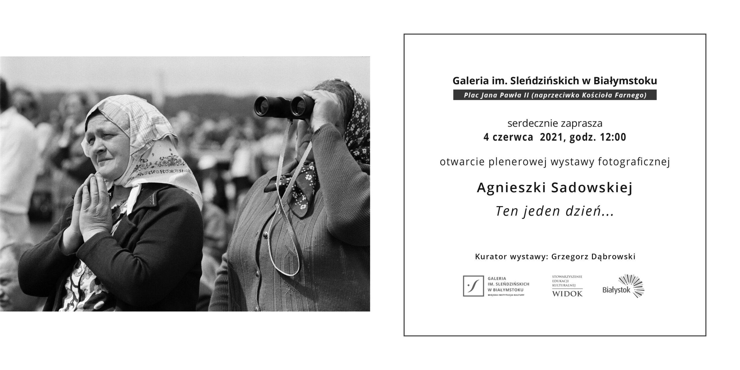 Plenerowa wystawa fotograficzna Agnieszki Sadowskiej