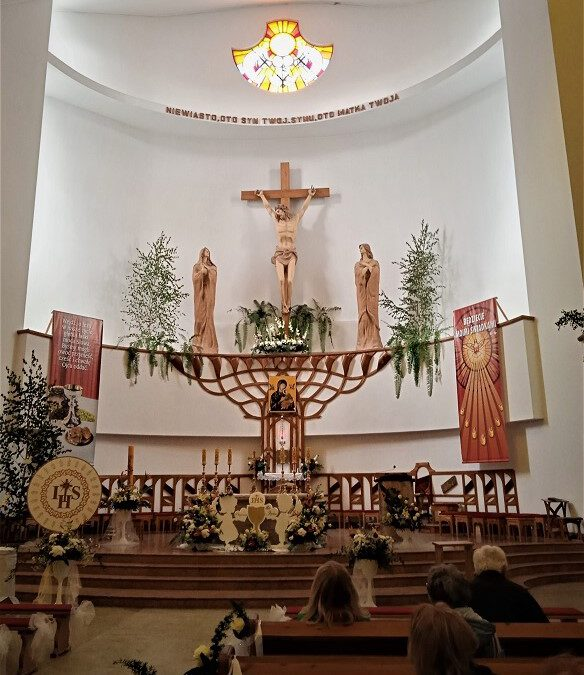Wnętrze kościoła w Grajewie