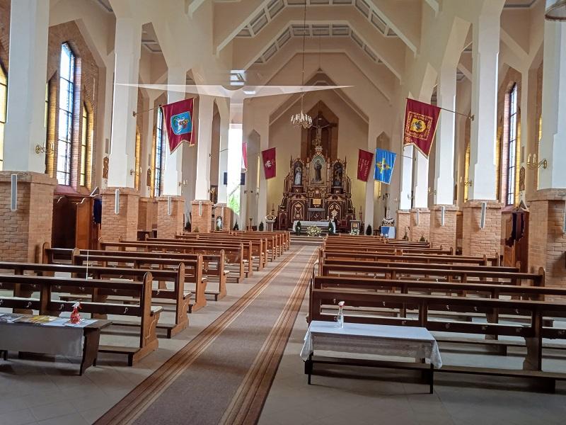 Wnętrze kościoła w Prostkach