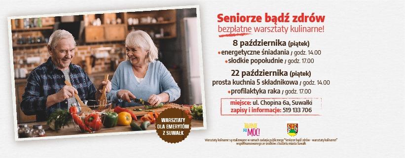 Bezpłatne warsztaty kulinarne suwalskim seniorom