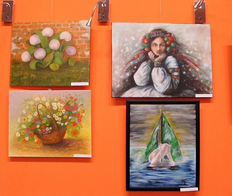Cztery obrazy z wystawy